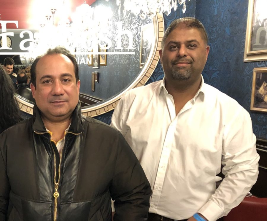 Rahat Fateh Ali Khan dines at Fanoosh in Leeds